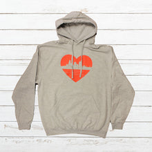 Load image into Gallery viewer, Heart of Cincy - Hoodie - Newtown Shirt Company