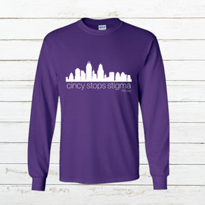 Cincy Stops Stigma - Long Sleeve - Newtown Shirt Company