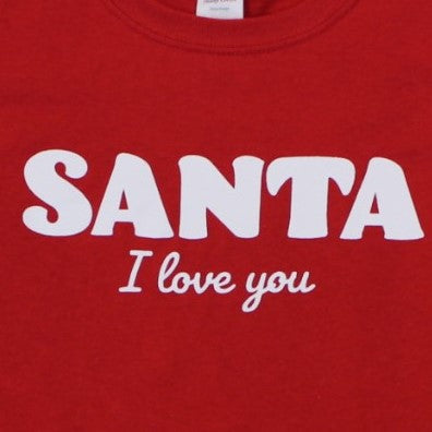 0465c2509 ... Load image into Gallery viewer, Santa I Love You - Youth, Shirt, -