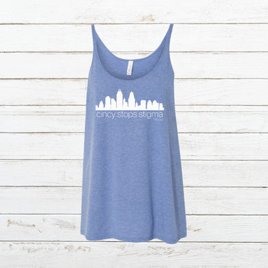 Cincy Stops Stigma - Women's Tank, Shirt, - Newtown Shirt Company