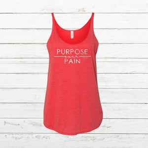 Purpose over Pain - Women's Tank - Newtown Shirt Company