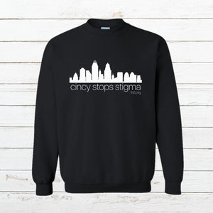 Cincy Stops Stigma - Sweatshirt - Newtown Shirt Company