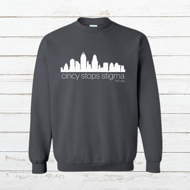 Cincy Stops Stigma - Sweatshirt, Shirt, - Newtown Shirt Company