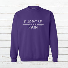Load image into Gallery viewer, Purpose over Pain - Sweatshirt, Shirt, - Newtown Shirt Company