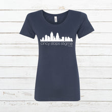 Load image into Gallery viewer, Cincy Stops Stigma - Women's Fitted - Newtown Shirt Company