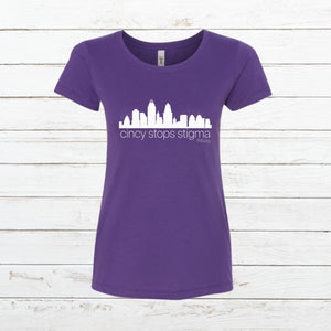 Cincy Stops Stigma - Women's Fitted - Newtown Shirt Company