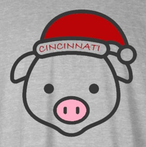 Cincy Xmas Pig, Shirt, - Newtown Shirt Company