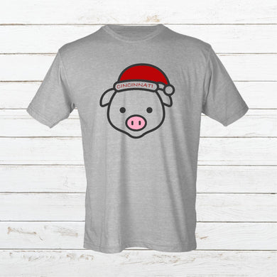 Cincy Xmas Pig - Newtown Shirt Company