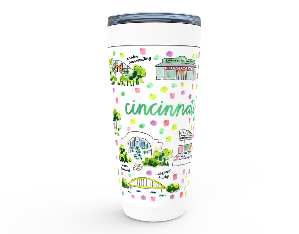 Evelyn Henson Cincinnati, OH Map Tumbler - Newtown Shirt Company
