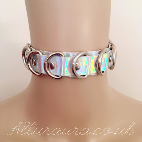 D Ring Choker (Iridescent)