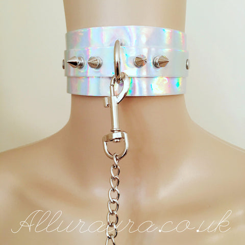 Oversized Choker & Lead Set (Iridescent)