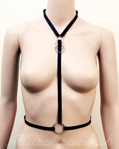 Double Ring Mellifluous Harness (Black)