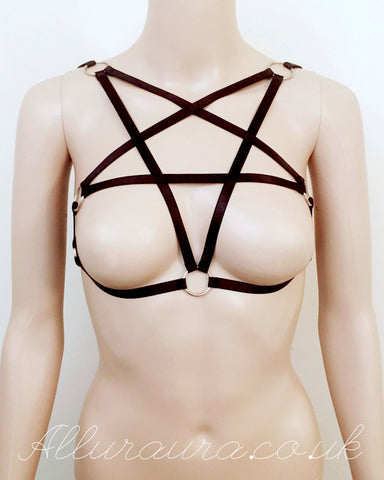 Satin Pentagram Harness (Black)