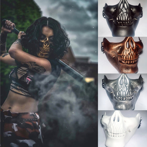 Spiked Dimple Skull Mask