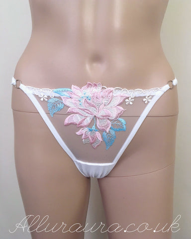 Floral Lace Underwear (White)