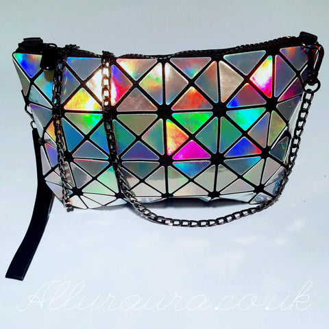 Iridescent Panelled Handbag