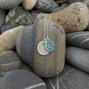 Cloud and Lichen Mini Double Pendant