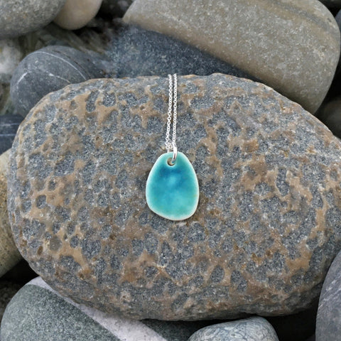 Aqua Pebble Mini Pendant