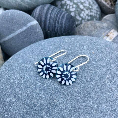 Indigo Flower Earrings