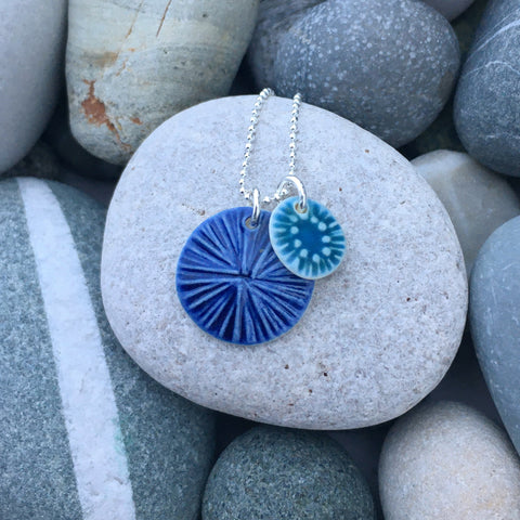 Bilberry and Coast Double Pendant