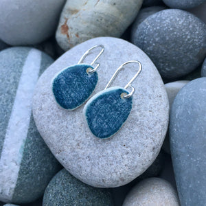 Indigo Pebble Earrings