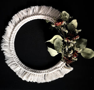 Floral and Fiber Wreath (Holiday 1)