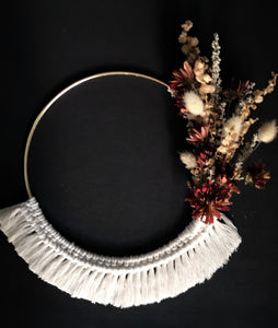 Floral and Fiber Wreath (Holiday 2)