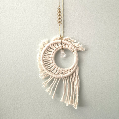 Macrame Crystal Moon