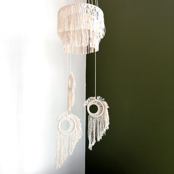 Macrame Moon Mobile