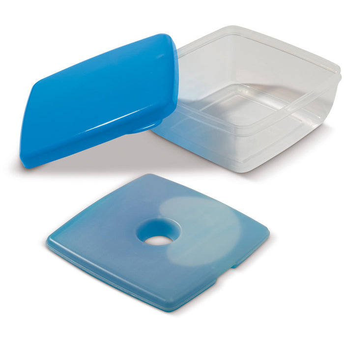 lunch box met koelelement 750ml blauw