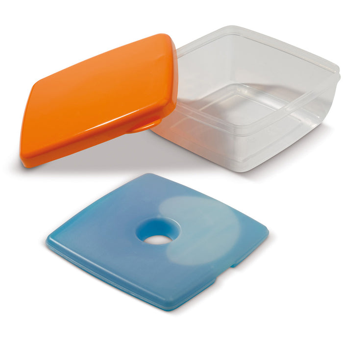 lunch box met koelelement 750 ml oranje