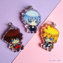 Load image into Gallery viewer, Kingdom Hearts Sora Roxas Riku Charm