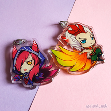 Load image into Gallery viewer, XAYAH & RAKAN CHARM