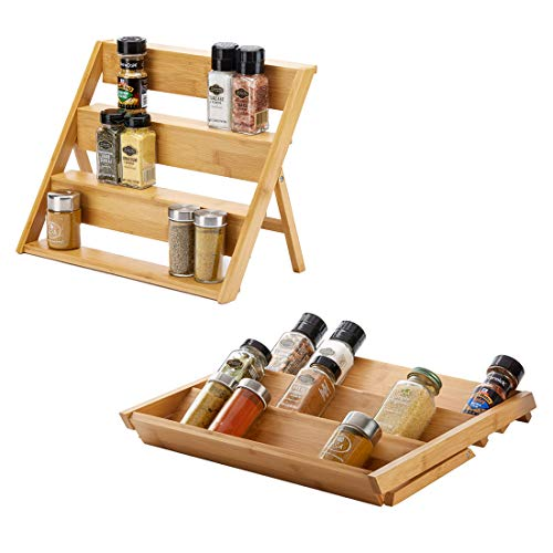 SpiceLuxe Transformer Rack | Organize Spices in Drawer, Counter, or Cabinet