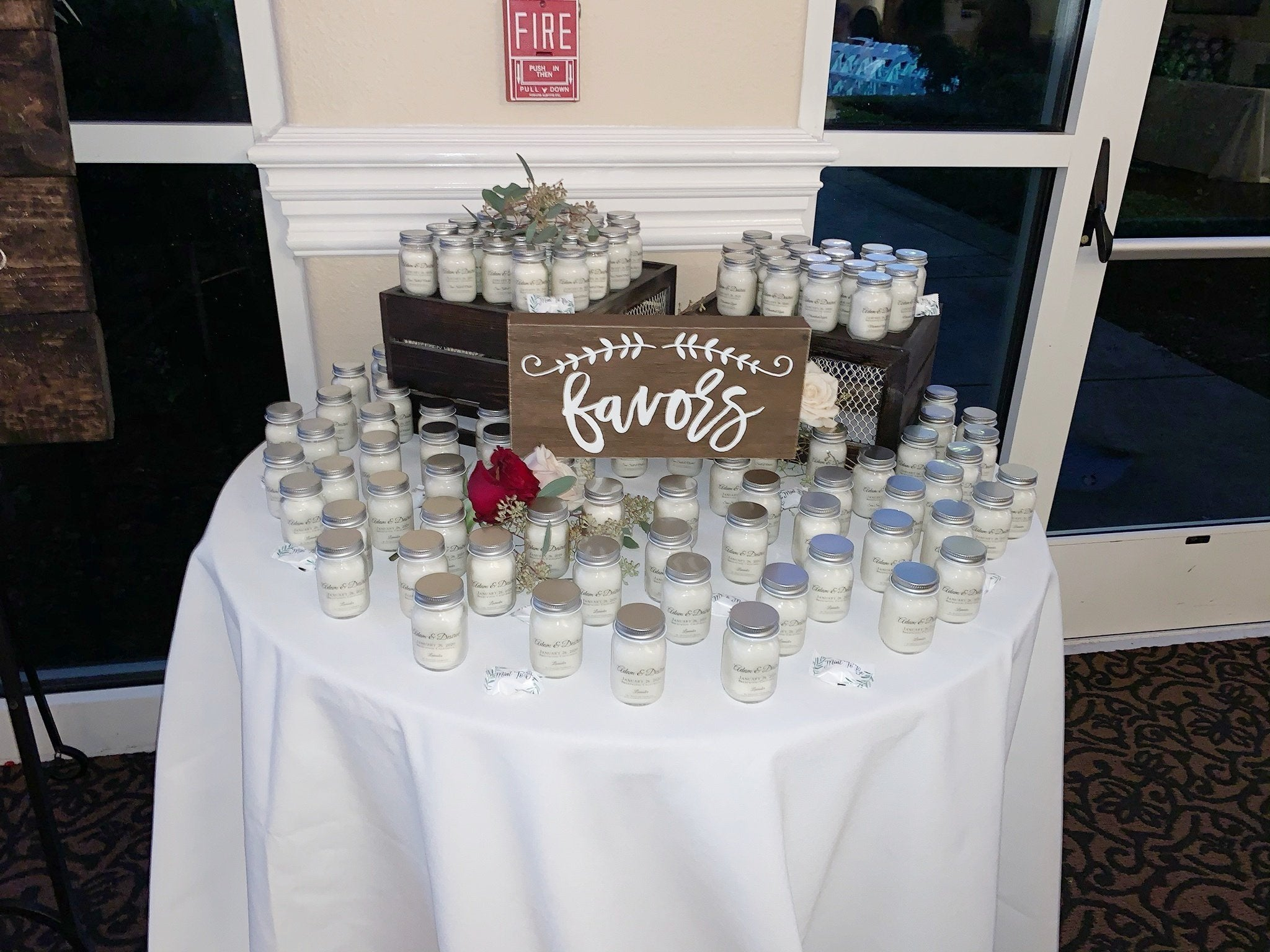 Mini Candle Baby Shower Favors