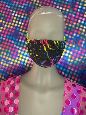 FACE MASK - REVERSIBLE - Thunder Black - Neon Yellow
