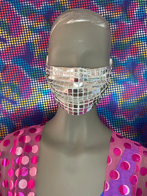 FACE MASK - Disco Silver