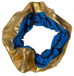 Scrunchie - Gold and Dark Blue