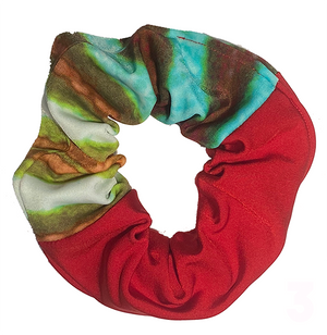 Scrunchie -  Red and Green Print