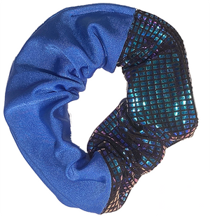 Scrunchie - Blue and Black Disco