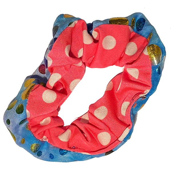 Scrunchie - Pink Dots and Blue Dots