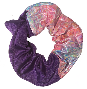 Scrunchie - Purple and Pinky Pattern
