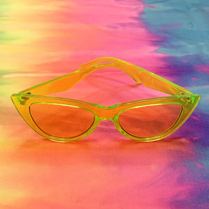 SunGlasses - Cat Eye - See-through Yellow