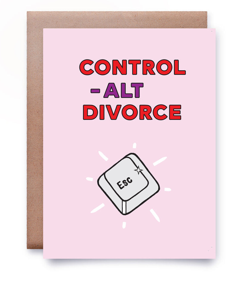Postcard - CONTROL-ALT-DIVORCE