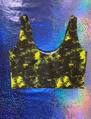Top - Thunder Black & Yellow with Glitters