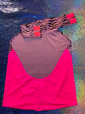 Turtleneck Top - Tiger Purple and Pink