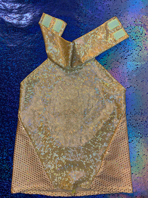 Turtleneck Top - Gold Glitter