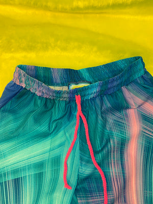 Joggingpants - Blue Neon Pink