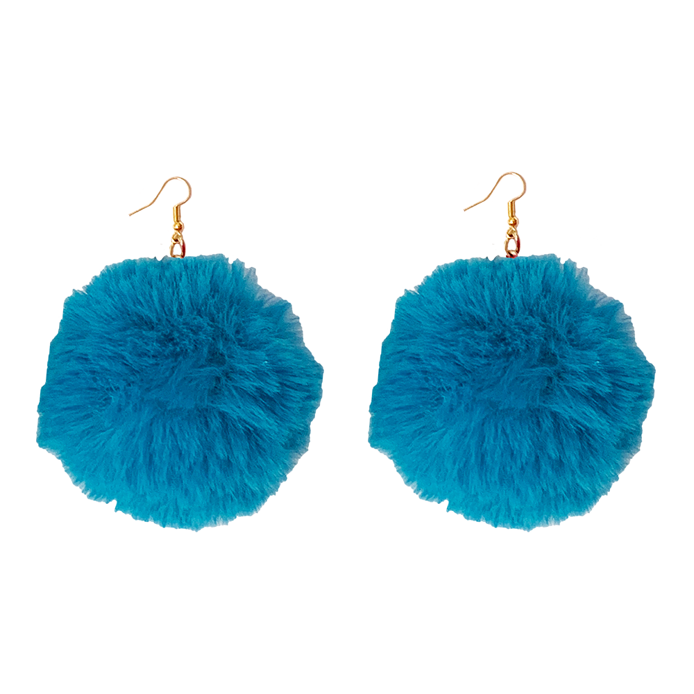 Earrings - Fluff - Turqouise