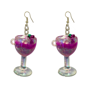 Earrings - Purple Cocktail